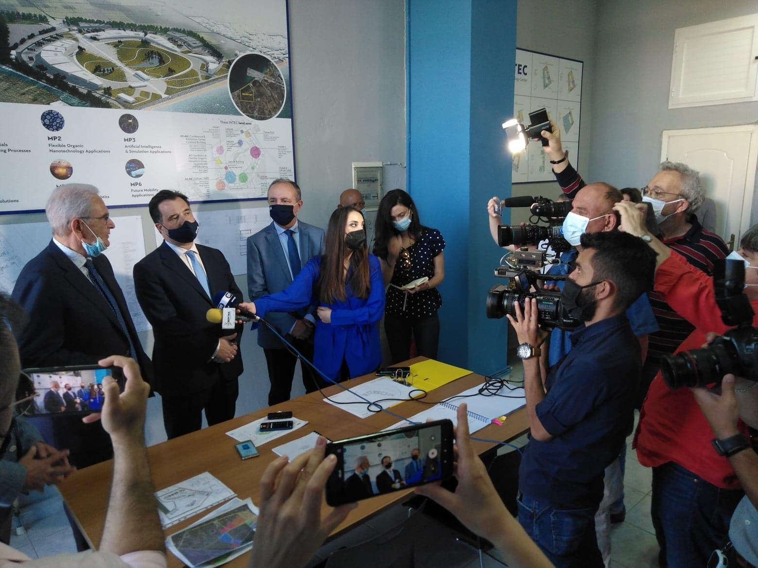Ο Α. Γεωργιάδης στα γραφεία της ThessIntec στη Περαία-Φωτορεπορτάζ και βίντεο από το BestCity.gr