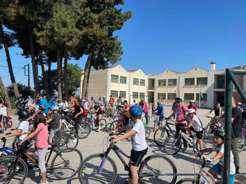 Μεγάλη η συμμετοχή στην ποδηλατάδα της Επανομής (ΦΩΤΟΡΕΠΟΡΤΑΖ)