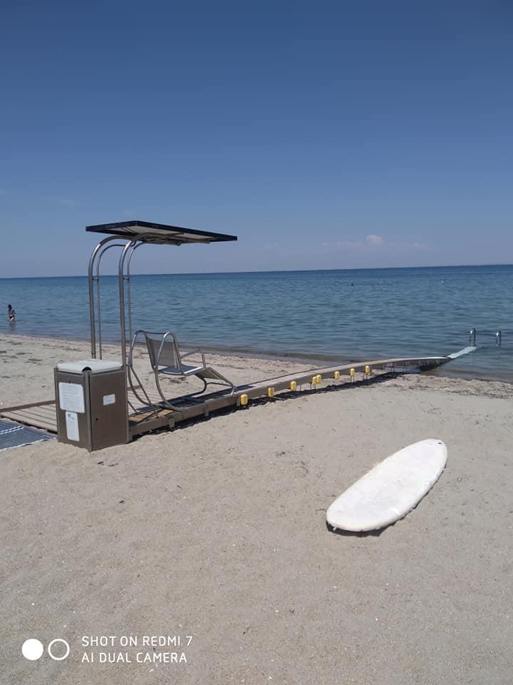 Υποδομή για ΑΜΕΑ στην παραλία των Νέων Επιβατών