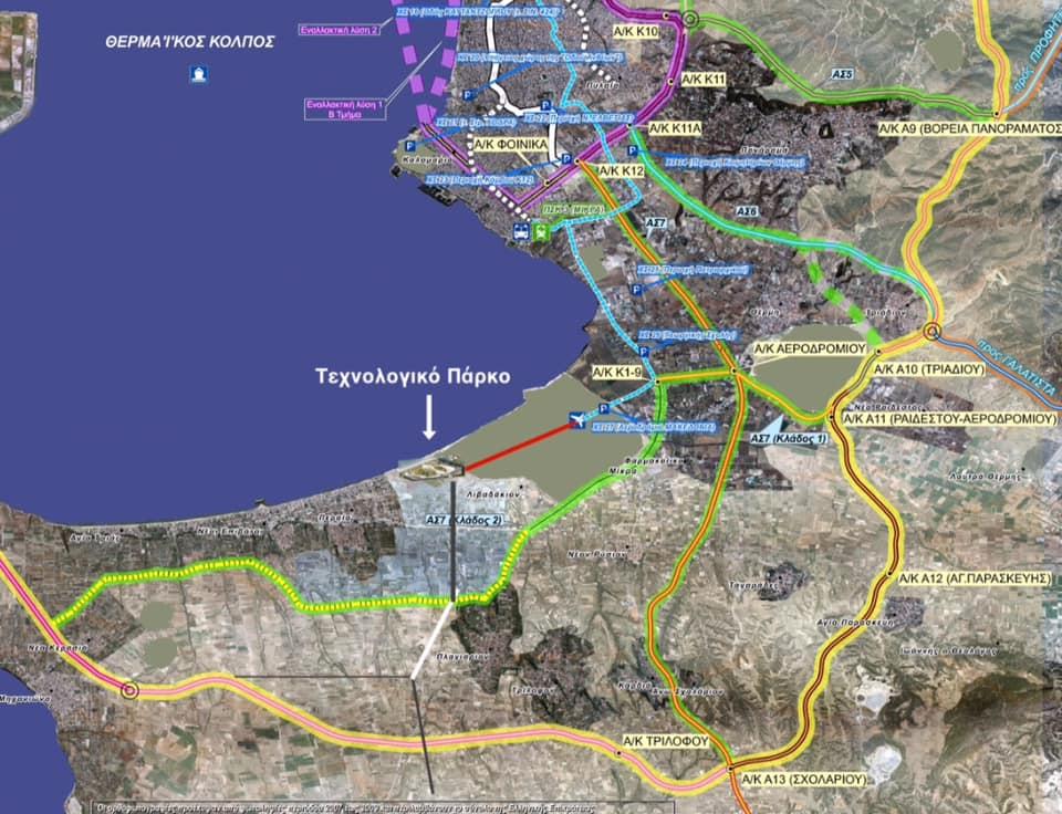 Η πρόταση Χατζηβαλάση για την επέκταση του Μέσου Σταθερής Τροχιάς ως το Τεχνολογικό Πάρκο