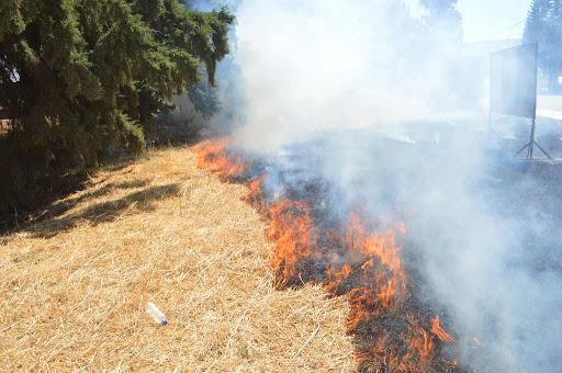 Εκαψε χόρτα φωτιά μικρής έκτασης στην Επανομή